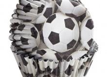 """Wilton """"Football Foil Baking Cups"""" - ΘΗΚΕΣ ΨΗΣΙΜΑΤΟΣ ΠΟΔΟΣΦΑΙΡΟ 50mm FOIL σετ 36 (κωδ. 0068)"""