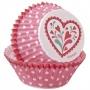 "Wilton ""Valentine PS Standard Bake Cups"" - ΘΗΚΕΣ ΨΗΣΙΜΑΤΟΣ 50mm σετ 75 (κωδ. 0325)"