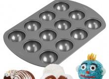 ". Wilton ""12-Cavity Orb Cakes Mini Cake Pan"" - ΦΟΡΜΑ ΑΝΤΙΚ. ΜΠΑΛΕΣ 12 ΘΕΣΕΩΝ (κωδ. 0363)"