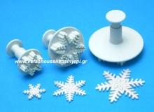 "PME ""Snowflake Plunger Cutter Set 3"" - ΚΟΥΠΑΤ ΣΦΡΑΓΙΔΑ ΧΙΟΝΟΝΙΦΑΔΑ ΣΕΤ 3 (κωδ. CD0708)"