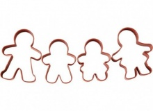 "Wilton ""Gingerbread Family Cutter Set"" - ΚΟΥΠΑΤ ΟΙΚΟΓ. GINGERBREAD σετ 4 (κωδ. 1240)"