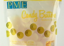"PME ""Candy Buttons - Yellow vanilla flavoured"" - ΚΙΤΡΙΝΟ ΜΕ ΓΕΥΣΗ ΒΑΝΙΛΙΑΣ 340gr (κωδ. CD1346)"