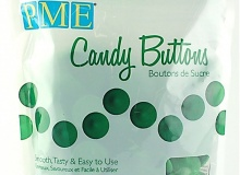 "PME ""Candy Buttons - Dark Green vanilla flavoured"" - ΣΚΟΥΡΟ ΠΡΑΣΙΝΟ ΜΕ ΓΕΥΣΗ ΒΑΝΙΛΙΑΣ 340gr (κωδ. CD1350)"