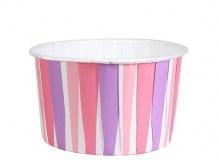 "Culpitt ""PINK STRIPES Baking Cups"" - ΘΗΚΕΣ ΨΗΣΙΜΑΤΟΣ 58mm ΡΟΖ/ΜΩΒ/ΦΟΥΞΙΑ ΡΙΓΕΣ σετ 24 (κωδ. 2331)"