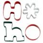 """Wilton """"4-Pc. HoHo Metal Cookie Cutter Set"""" - ΚΟΥΠΑΤ ΧΡΙΣΤ. HO HO σετ 4 (κωδ. 2959)"""