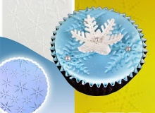 "PME ""Impression Mat - Snowflake Design"" - ΑΝΑΓΛΥΦΟ ΦΥΛΛΟ ΝΙΦΑΔΑ ΧΙΟΝΙΟΥ (κωδ. 3079)"