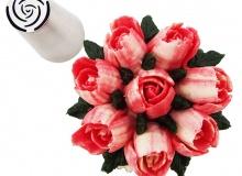 ΚΟΡΝΕ ΜΕΤΑΛΛΙΚΟ ΤΡΙΑΝΤΑΦΥΛΛΟ (Rose) (κωδ. 3303)