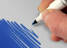 "Rainbow Dust ""double sided food pen ROYAL BLUE"" - ΒΡΩΣΙΜΟΣ ΜΑΡΚΑΔΟΡΟΣ 2ΠΛΗΣ ΟΨΗΣ ΜΠΛΕ (κωδ. CD4133)"