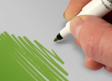 """Rainbow Dust """"double sided food pen LEAF GREEN"""" - ΒΡΩΣΙΜΟΣ ΜΑΡΚΑΔΟΡΟΣ 2ΠΛΗΣ ΟΨΗΣ ΠΡΑΣΙΝΟ ΑΝΟΙΧΤΟ (κωδ. CD4135)"""