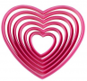 "Wilton ""Hearts Nesting Cutter Set"" - ΚΟΥΠΑΤ ΠΛΑΣΤΙΚΟ ΚΑΡΔΙΑ ΣΕΤ 6 (κωδ. 4410)"