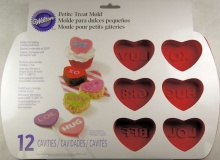 "Wilton ""Mini Heart Petite Treat Mold"" - ΚΑΛΟΥΠΙ ΣΙΛΙΚΟΝΗΣ ΚΑΡΔΙΕΣ ΜΙΝΙ (κωδ. 4923)"