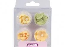 "Culpitt ""Yellow Flowers Sugar Pipings"" - ΖΑΧΑΡΩΤΑ ΛΟΥΛΟΥΔΙΑ & ΦΥΛΛΑ ΚΙΤΡΙΝΑ σετ 16 (κωδ. 5266)"