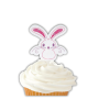 "Wilton ""Bunny Fun Pix"" - ΠΙΚΣ (ΟΔΟΝΤΟΓΛΥΦΙΔΕΣ) ΛΑΓΟΥΔΑΚΙ ΜΕ ΦΟΥΝΤΩΤΗ ΟΥΡΑ σετ 12 (κωδ. 8050)"