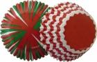 """. Wilton """"XMAS Standard Baking Cups"""" - ΘΗΚΕΣ ΨΗΣΙΜΑΤΟΣ ΚΟΚΚΙΝΟ/ΠΡΑΣΙΝΟ ΡΙΓΕΣ 50mm σετ 75 (κωδ. 9161)"""