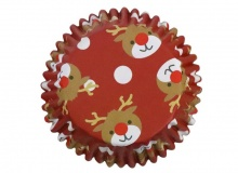", PME ""Reindeer Decorative Foil Baking Cups"" - ΘΗΚΕΣ ΨΗΣΙΜΑΤΟΣ FOIL ΤΑΡΑΝΔΟΣ 50mm σετ 30 (κωδ. 9509)"