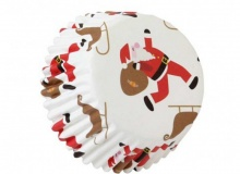 ", PME ""Santa with sledge Decorative Foil Baking Cups"" - ΘΗΚΕΣ ΨΗΣΙΜΑΤΟΣ FOIL ΑΓ. ΒΑΣΙΛΗΣ ΜΕ ΕΛΚΥΘΡΟ 50mm σετ 30 (κωδ. 9510)"