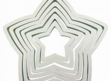 "PME ""6 Piece Star Cutter Set"" - ΚΟΥΠΑΤ ΠΛΑΣΤ. ΑΣΤΕΡΙ ΣΕΤ 6 (κωδ. CD1093)"