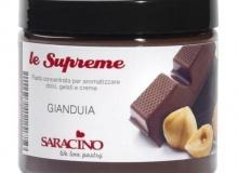 ". Saracino ""le Supreme GIANDUIA"" - ΣΥΜΠΥΚΝΩΜΕΝΗ ΑΡΩΜΑΤΙΚΗ ΠΑΣΤΑ ΠΡΑΛΙΝΑ ΦΟΥΝΤΟΥΚΙΟΥ 200gr (κωδ. CD6404)"