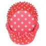 "PME ""Red Polka Dots Standard Baking cups"" - ΘΗΚΕΣ ΨΗΣΙΜΑΤΟΣ 50mm ΠΟΥΑ ΚΟΚΚΙΝΟ σετ 60 (κωδ. 0722)"