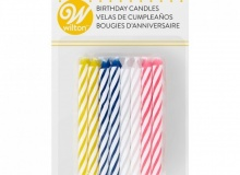 "Wilton ""Multi Color Birthday Candles"" - ΚΕΡΙΑ ΣΠΙΡΑΛ 4 ΧΡΩΜΑΤΑ σετ 24 (κωδ. 3984)"